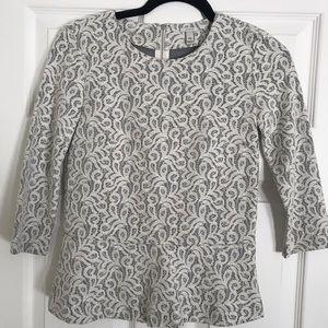 NWOT JCrew peplum lace blouse XXS